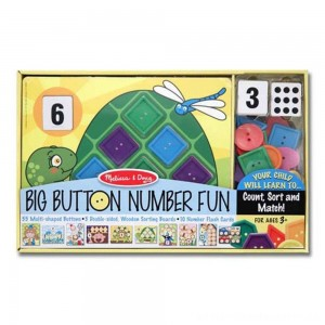 Melissa & Doug Big Button Number Fun Counting and Matching Activity Set Board Game, Kids Unisex [ Sale ]