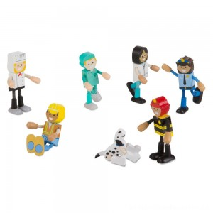 Melissa & Doug Wooden Flexible Figures - Careers [ Black Friday Sale ]