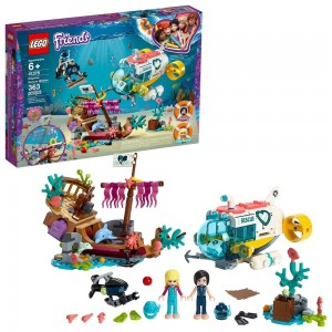 LEGO Friends Dolphins Rescue Mission 41378 Sea Life Building Kit with Toy Submarine and Sea Creatures [ Sale ]