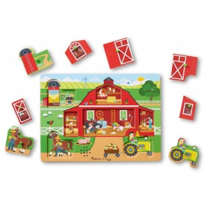 Melissa & Doug Around the Farm Sound Puzzle 8pc [ Black Friday Sale ]