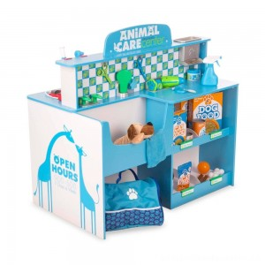 Melissa & Doug Animal Care Veterinarian and Groomer Wooden Activity Center [ Black Friday Sale ]