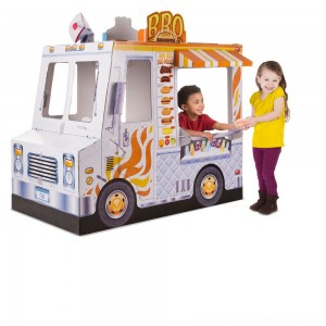 Melissa & Doug Food Truck Indoor Corrugate Playhouse (Over 4' Long) [ Sale ]
