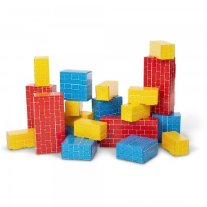 Melissa & Doug Extra-Thick Cardboard Building Blocks - 24 Blocks in 3 Sizes [ Black Friday Sale ]