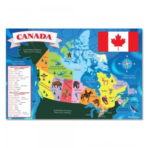 Melissa And Doug Canada Map Jumbo Floor Puzzle 48pc [ Black Friday Sale ]
