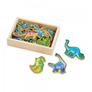 Melissa & Doug Magnetic Wooden Dinosaurs with Wooden Tray - 20pc [ Sale ]