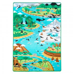"Melissa & Doug Jumbo Habitats Activity Rug, 58 x 79"" [ Black Friday Sale ]"