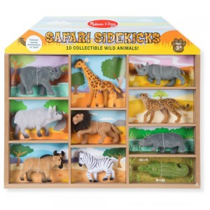 Melissa & Doug Safari Sidekicks - 10 Collectible Wild Animals [ Sale ]