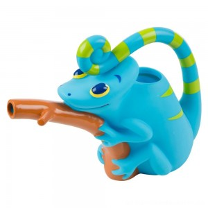 Melissa & Doug Sunny Patch Camo Chameleon Watering Can With Tail Handle and Branch-Shaped Spout [ Sale ]