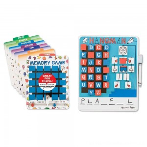 Melissa & Doug Flip to Win Set - Memory Game and Hangman [ Sale ]