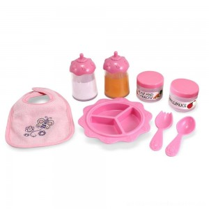 Melissa & Doug Mine to Love Time to Eat Doll 8 pc Accessories Feeding Set [ Sale ]