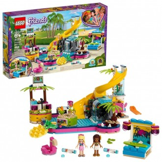 LEGO Friends Andrea's Pool Party 41374 Toy Pool Building Set with Mini Dolls for Pretend Play [ Sale ]