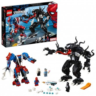 LEGO Marvel Spider Mech Vs. Venom Ghost Spider Superhero Playset with Web Shooter 76115 [ Black Friday Sale ]