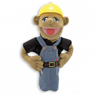 Melissa & Doug Construction Worker Puppet With Detachable Wooden Rod for Animated Gestures [ Black Friday Sale ]