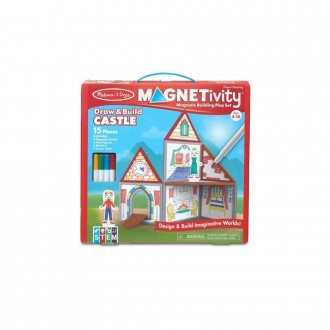 Melissa & Doug Magnetivity - Draw & Build Castle [ Sale ]