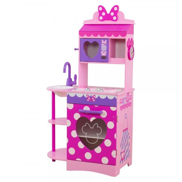 KidKraft Disney Jr. Minnie Mouse Toddler Kitchen [ Sale ]