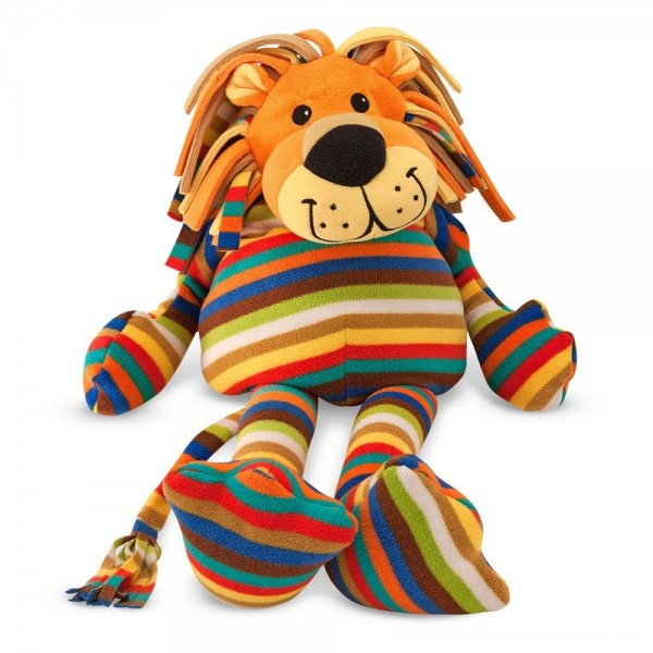 Melissa & Doug Elvis Lion - Patterned Pal Stuffed Animal