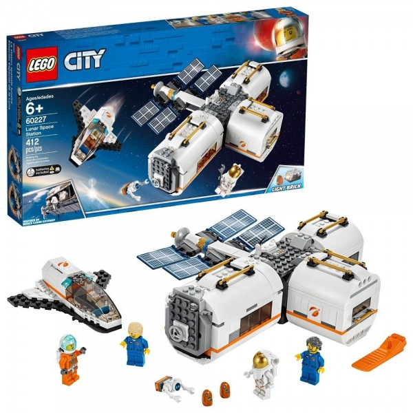 LEGO City Space Lunar Space Station 60227 Space Station Building Set with Toy Shuttle [ Sale ]